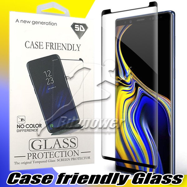 top popular For Samsung Galaxy S10 S10E Note 9 10 Plus S9 Note 8 S8 Case Friendly Tempered Glass Screen Protector with Package 2021