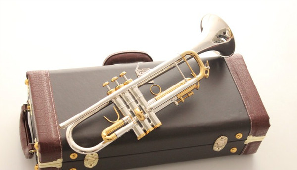 Trumpet Original High quality Trumpet LT180S 72 silver Plated Musical instruments Super Professional performance Free shipping
