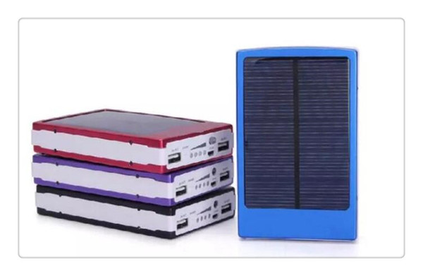 30000 mah Solar Charger and Battery 30000mAh Solar Panel Dual Charging Ports portable power bank for All Cell Phone table PC MP3 10pcs