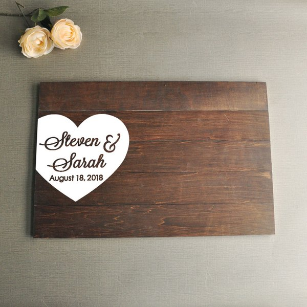 2019 Wedding Guestbook Sign Guestbook Alternative Wedding Guest Book Wooden Wedding Signs Wedding Gifts Amp Mementos Wood Guest Book From