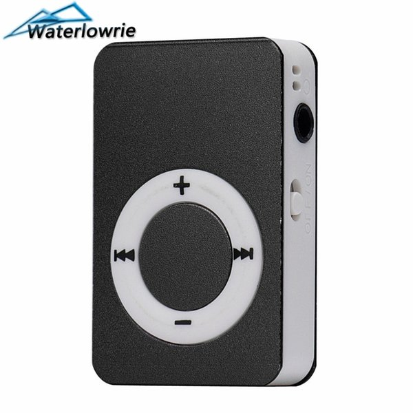 Waterlowrie Fashion Music Player Metal matte material walkman Sport Mp 3 Support 8G TF Card Mini MP3-Player usb mp3 for Gift