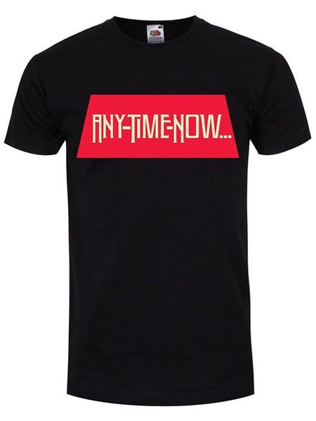 Erkekler Herhangi Bir Zaman Şimdi Siyah T-shirt% 100% Pamuk T Shirt Marka Giyim Tops Tees Harajuku Serin T Gömlek Homme Yeni Moda Erkekler 'S