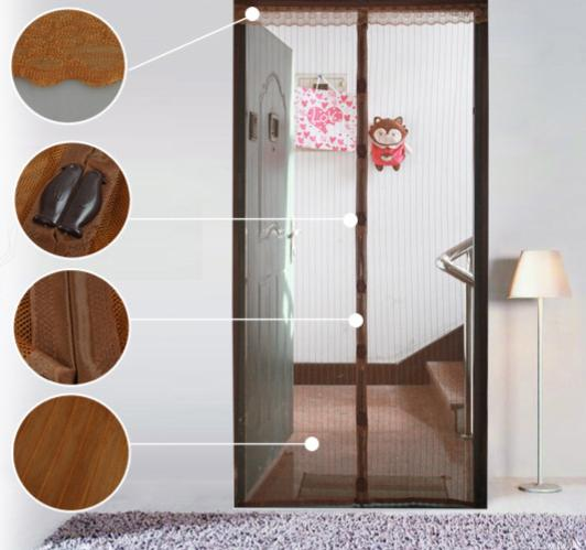 Useful curtain magnetic screen summer home window curtain cloth keep from flies mosquitoes bedroom for baby