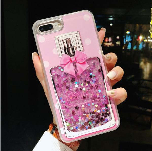 Love Heart Stars Glitter Stars Phone Case For iPhone 6 7 8 Plus X Dynamic Liquid Quicksand TPU Back Cover-N