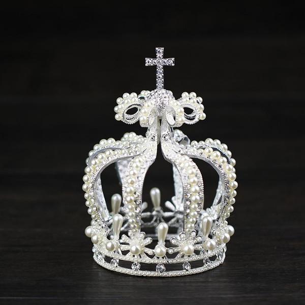 Bride crown, cross, royal crown, noble, elegant bride's headgear, crown, hair, accessories