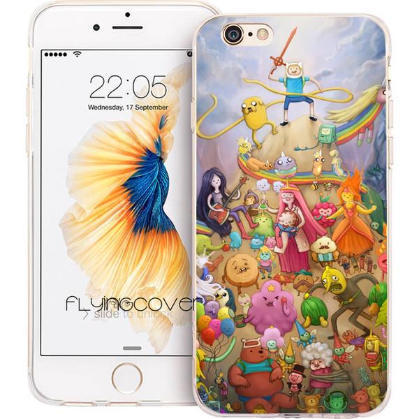 Coque Adventure Time Finn Phone Case для iPhone X 7 8 Plus 5S 5 SE 6 6 S Plus 5C 4S 4 iPod Touch 6 5 прозрачная мягкая силиконовая крышка TPU.
