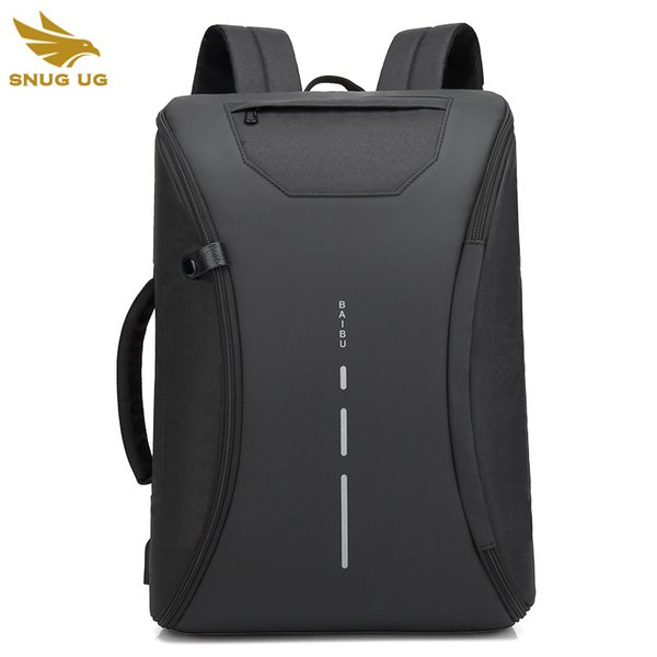 Multifonction Hommes Sac À Dos Mode Casual Étudiant Sac D'école Externe USB Charge Laptop Backpack Étanche