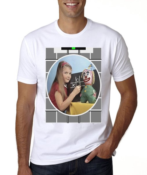 Vintage Test Card T-Shirt (Denken Sie daran) Sommer neue Männer Baumwolle T-Shirt Männer O-Neck T-Shirt Drucken T-Shirt Mens Short