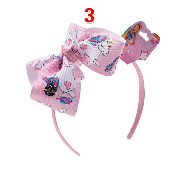 unicorn rainbow headband alice band girls hair bow