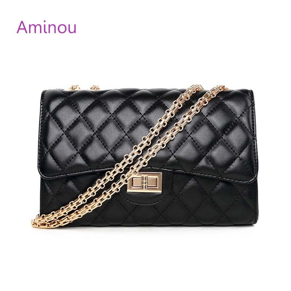 Fashion Small Flap Bag Crossbody Bags Women Luxury Quilted Plaid Chains Shoulder Handbag Famous Brand Design Lady Messenger Bag Y1891204