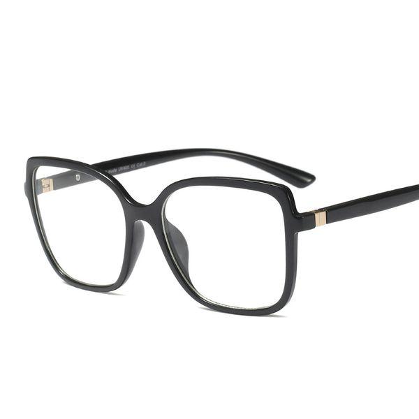 Негабаритные квадратные рамки для очков Классическая женщина Мужчины Прозрачные очки для очков Компьютерная радиационная защита Очки для очков Мужские FML