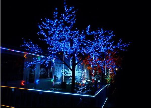 Solar Weihnachtsbeleuchtung.Grosshandel 8 Modi Solar Weihnachtsbeleuchtung 200 Led Solar Lichterketten Fur Garten Im Freien Hochzeit Mit Blauer Farbe Led Solar Lampe Von Qin88888