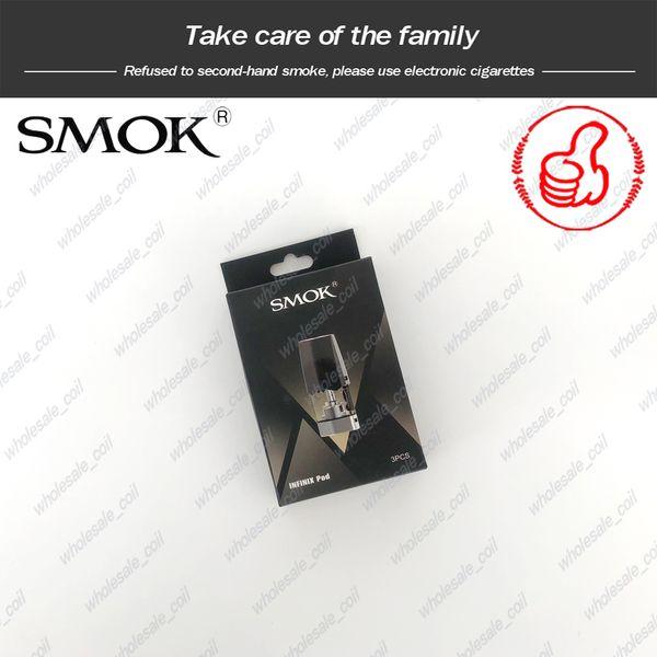 100% Originale SMOK Infinix Pod 2ml 1.4ohm Bobina Cartuccia di ricambio per baccelli per Smoktech Infinix Vape Pen Kit DHL Free