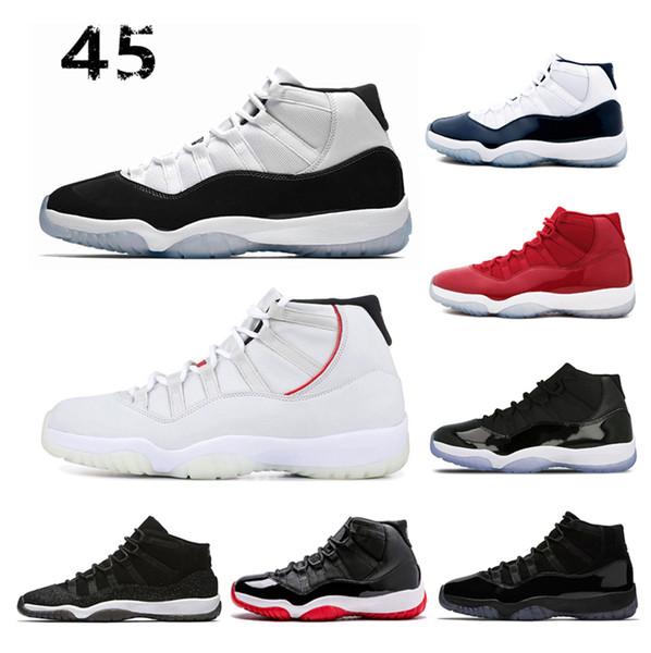 2019 Nuove scarpe da basket uomo 11 11s Platinum Tint Concord 45 Bred leggenda blu donne sportive Sneaker 5.5-13 Dropship