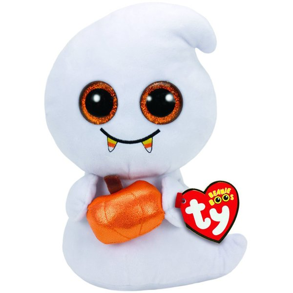 """Pyoopeo Ty Beanie Boos 6"""" 15cm Scream the Halloween Ghost Plush Regular Soft Stuffed Animal Collection Doll Toy with Heart Tag"""