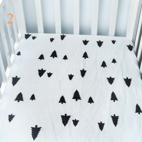 best selling Low moq infant standard crib sheet baby boys and girls bedding sheets full size many designs