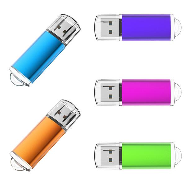 20pcs 512MB USB 2.0 Flash Drive Rectangle Flash Pen Drive High Speed Thumb Memory Stick Storage for Computer Laptop Tablet Mac Multicolors