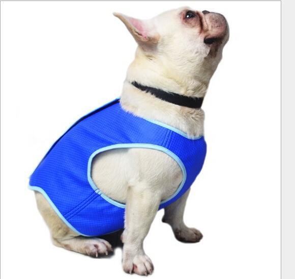 Roupas de Arrefecimento do animal de Estimação Cão Resfriamento Colete de Artefato de Calor de Verão de Refrigeração Roupas Vest Acessórios Para Animais De Estimação XS-L