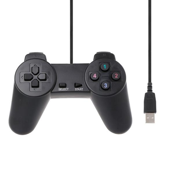 2018 Hot Black USB 2.0 Wired Multimedia Gamepad Joystick Spiel Controller für Gamepads für PC Notizen neu