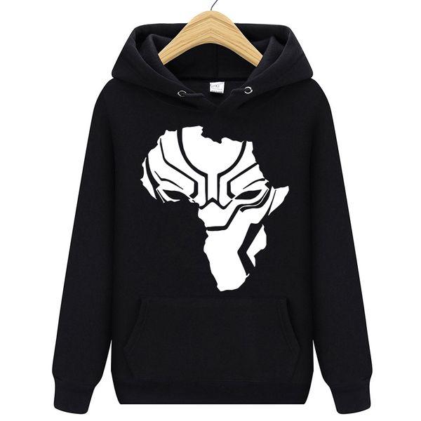 Livraison gratuite Panthère Noire Wakanda Warrior Hommes À Capuche Pull En Molleton À Capuche Hip Hop Mâle Pull