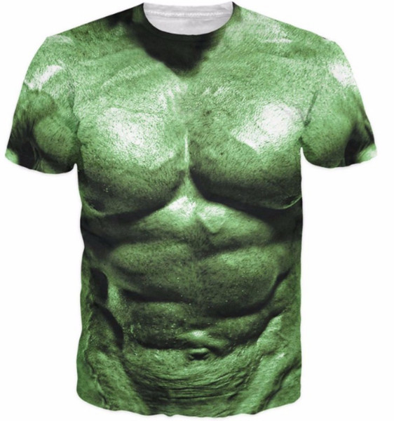 Mujeres / hombres Cómics Superhéroes Hulk Print camiseta 3d Hulk increíble camiseta de moda Músculo divertido Camisetas Harajuku Camisetas S-XXXXXXL U184