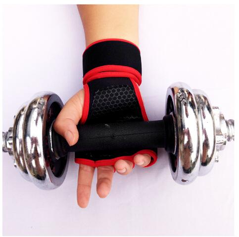 Men and Women Exercise Glove Gym Fitness Gloves Palm Protector Silicone Sports Dumble Fitness Gloves in Weightlifting Gloves