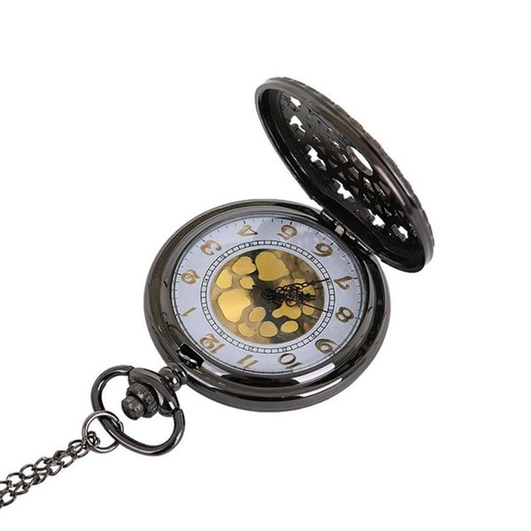 Moment # L02 2018 Fashion New Black Alloy Vintage Chain Retro The Greatest Pocket Watch Necklace For Grandpa Dad Gifts