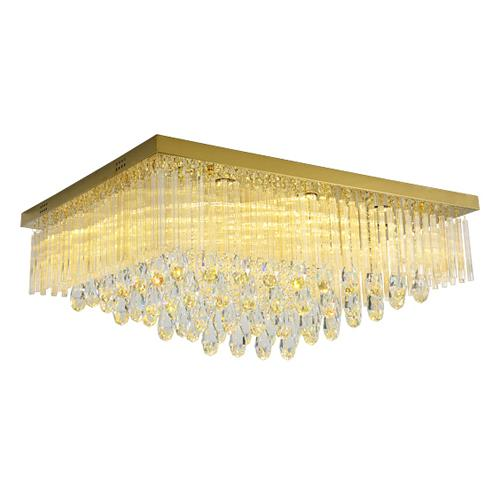 Postmodern crystal ceiling chandeliers lamps modern minimalist rectangular gold led ceiling chandelier lights ceiling lighting fixtures