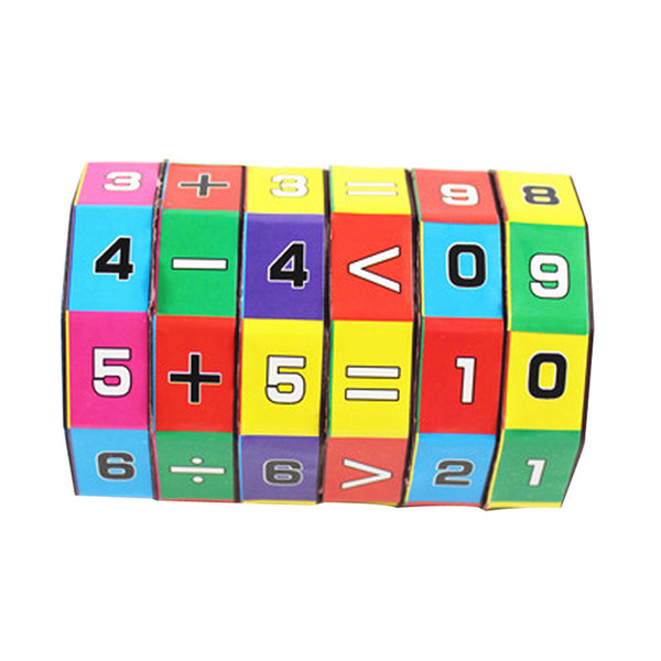 best selling New Slide puzzles Children Kids Mathematics Numbers Magic Cube toys for children kids toys Puzzle Game Gift
