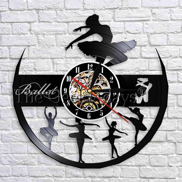 1 Stück Ballerina Geschenk Für Mädchen Tanzen Figur 3D Wanduhr Schallplatte Wanduhren Ballerina Room Decor Ballett Recital Geschenk