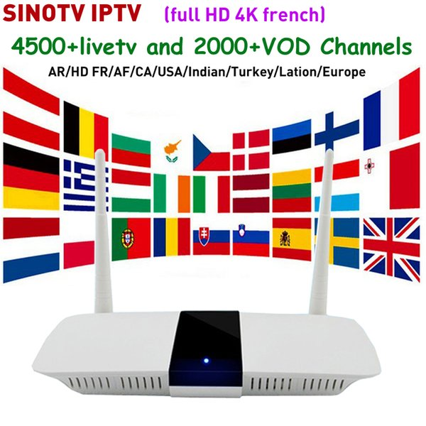 Best Canada IPTV Smart Tv Box Android 6 0 Q11 Add SINOTV Code For Arabic  French European Netherlands Turkey Indian Germany IPTV Pc To Tv Box Tv Box