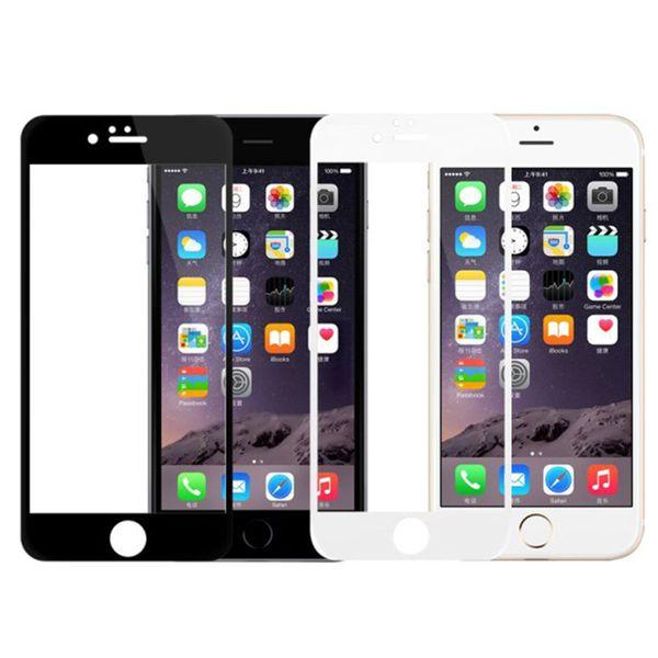 Soft Edge Full Screen Tempered Glass Film For iPhone 7 Screen Protector Protective Glass For iPhone 7plus 8 8 Plus X