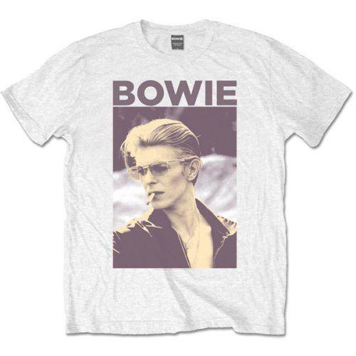 David Bowie T-shirt 'Smoking' - T-shirt design Neu und Offiziell T-shirt homme de haute qualité Homme