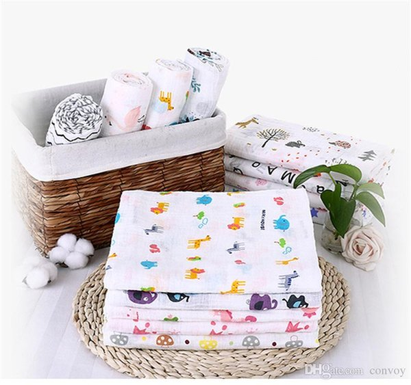 39 styles Swaddling Cotton Newborn Infant Conditioner Blanket Baby cute animal flower Swaddles Bath Towel Newborns Muslin Blankets BHB44