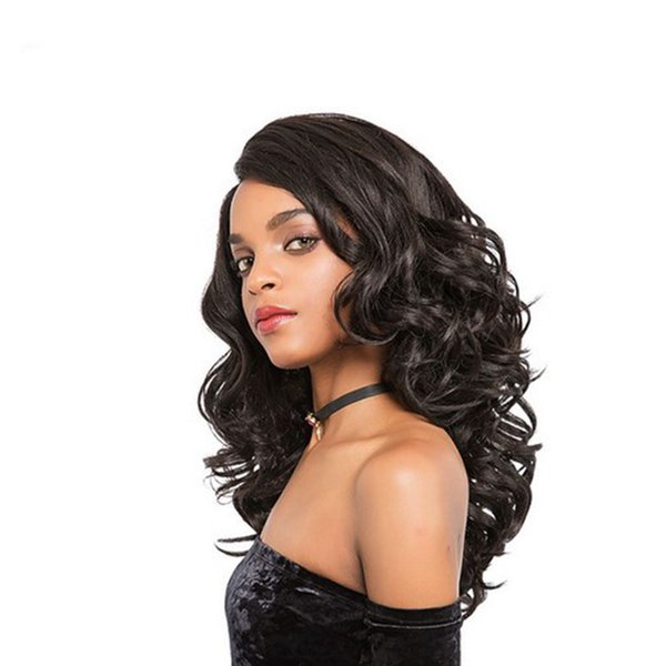 hot top quality brazilian Hair African Ameri loose wave Wig Simulation Human Hair long wave full wig in stock