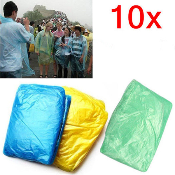 Transparent Raincoat Women Men Portable Outdoor Travel Rainwear Waterproof Disposable Camping Hooded Ponchos Plastic Rain Cover