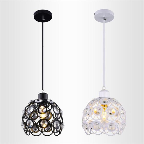 Rétro Vintage moderne restaurant minimaliste pendentif lampe personnalité créatrice cristal pendentif lumière pour chambre café