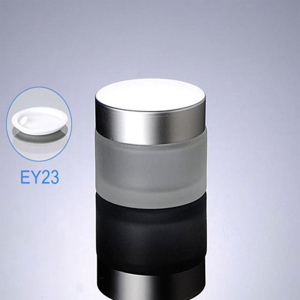 300pcs/lot 50g(50ml) Frosted Glass cream jar,Glass bottle with Silver lids, cosmetic container,cosmetic packaging