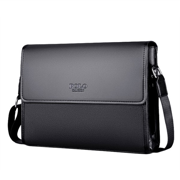 Brand leather men bag male me enger bag black luxury de igner ipad houlder bag large capacity men 039 cro body bag