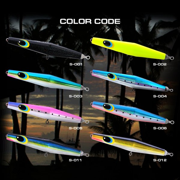 High End Series Floating Fishing Lure Pencil Popper Xilang 200F 200mm/90g High Grade Natural Wood Artificial Bait Tackle