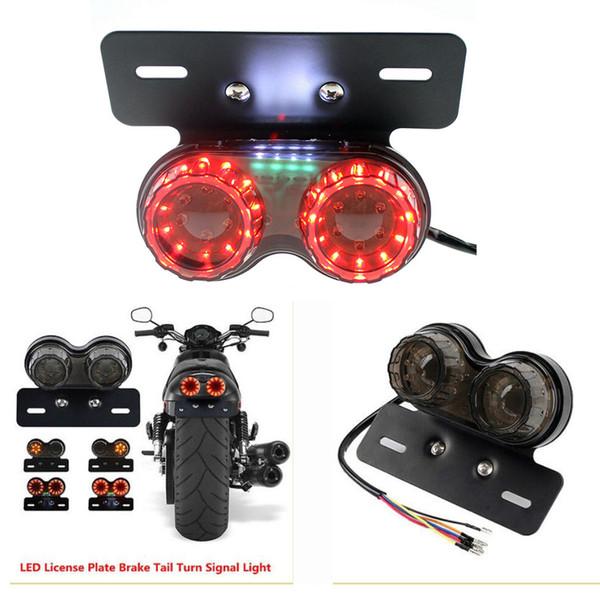 General Frenos de conducción Luces de dirección Luces traseras Rojo / amarillo motobike motocrcyle 40 LED Granos de la lámpara 12V Bombilla al por mayor
