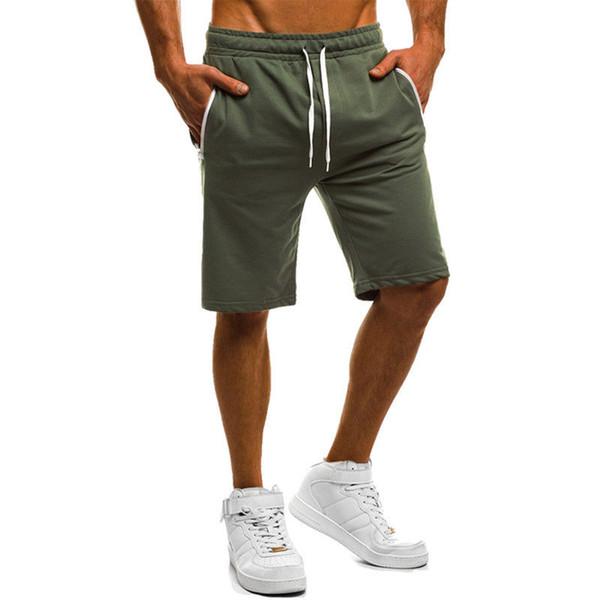 2018 Brand New dos homens de Bolso de Lã Sólida Pure Color Sportswear Shorts Jersey Elasticado Cintura Verão Shorts Casuais
