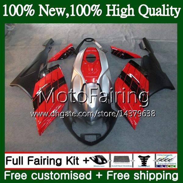 Cuerpo para BMW Rojo negro K1200S 05 06 07 08 09 10 K1200 S 05-10 12MF3 K-1200S K 1200S 2005 2006 2007 2008 2009 2010 10 Kit de carrocería Fairing