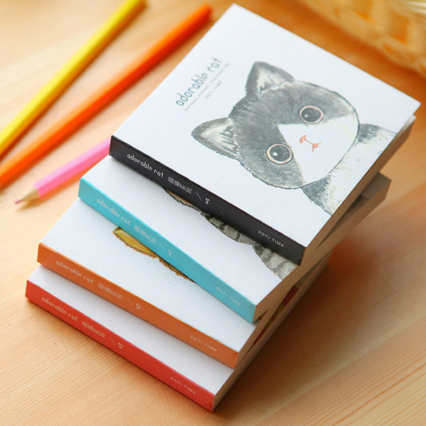 Cute Kawaii Cartoon Animal Cat Travelers Mini Graffiti NotMemo Portable Notepad Stationery Offce School Supplies