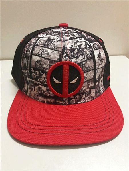 Adult Men Women Adjustable Snapback Hat Fashion Deadpool Hip Hop Baseball Cap Fashion Summer Sunny Caps