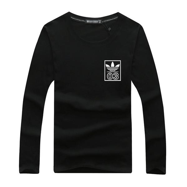 2018 Herbst und Winter neue Männer Langarm-T-Shirt, koreanische Version, Gezeiten Kragen Jersey, Herrenbekleidung, junge Männer