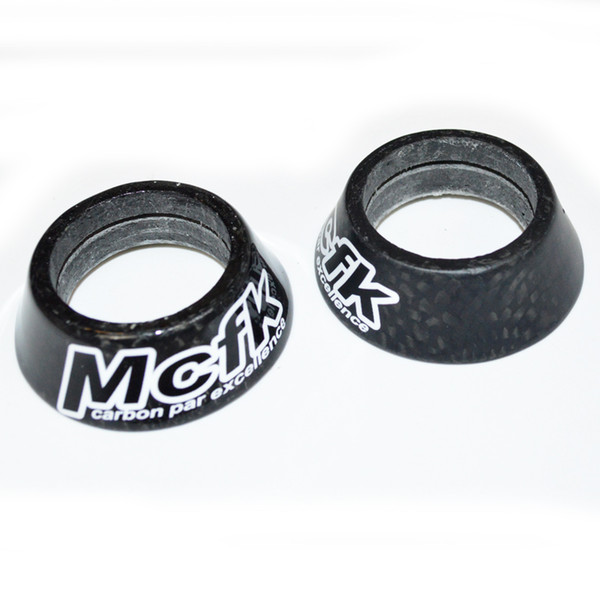 "McfK road Bicycle Headset Spacer 15mm 20mm 30mm 40mm 1-1/8"" Tapered Conical Carbon Headset MTB Bike Stem Spacer Cap glossy or matte"