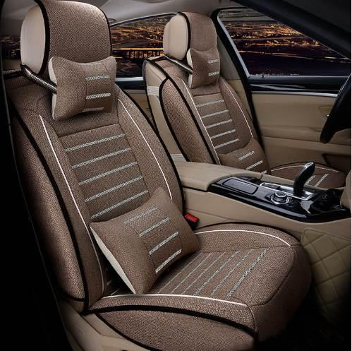 Peachy Flax Car Seat Covers Full Surrounded Seat For Toyota Volkswagen Suzuki Kia Mazda Mitsubishi Audi Nissan Seat Cushion Car Styling Leather Seat Cover Machost Co Dining Chair Design Ideas Machostcouk