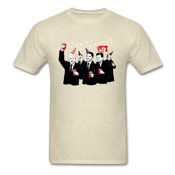 Democratic Party T-shirt Obama Trump Hilary T Shirt Men Tshirt Politician Comic Clothing US Trendy Tops Cotton Tee