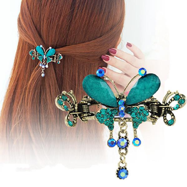 5 accessoires de mode pour femmes de couleur, épingle à cheveux du Moyen-Orient, accessoires pour cheveux haut de gamme, vente en gros de pendentif en épingle à cheveux papillon.